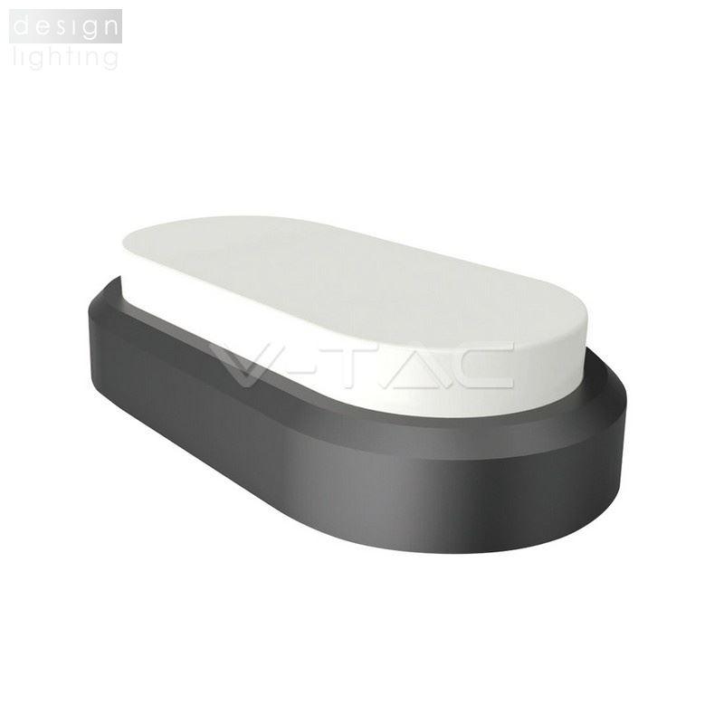 Stropní svítidlo Dome Series ovál - černé