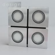 LED čtvercové přisazené svítidlo - 4x4W