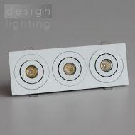 LED podhledové obdélníkové svítidlo - 3x1W