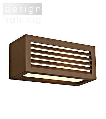 BOX-L - nástěnné svítidlo - barva rzi