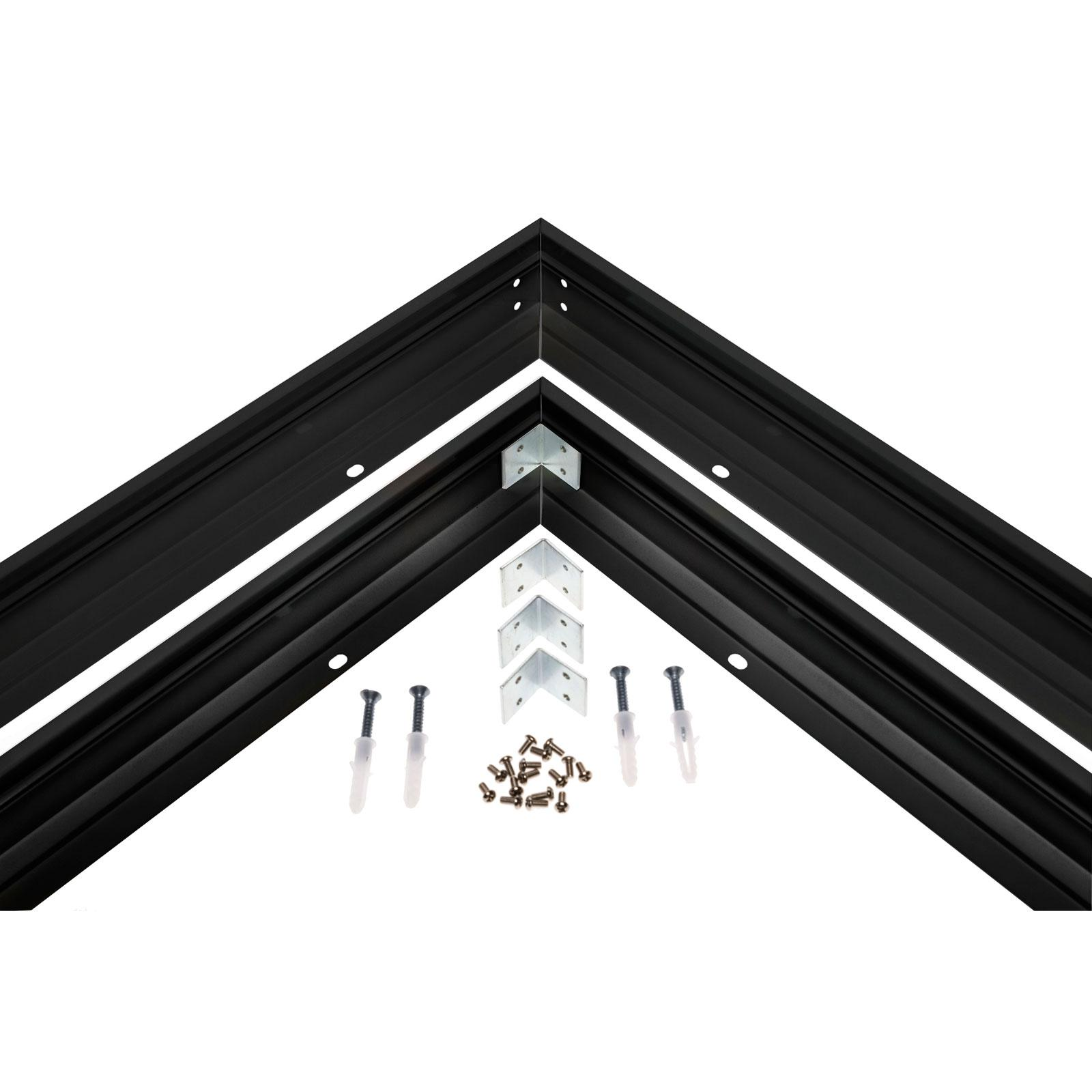 Frame to mounted fixture surface luminaire  ALGINE 600x600mm black