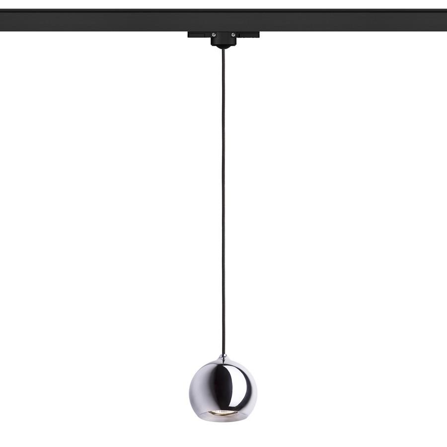 DESTY pro tříokr. lištu černá chrom 230V GU10 50W