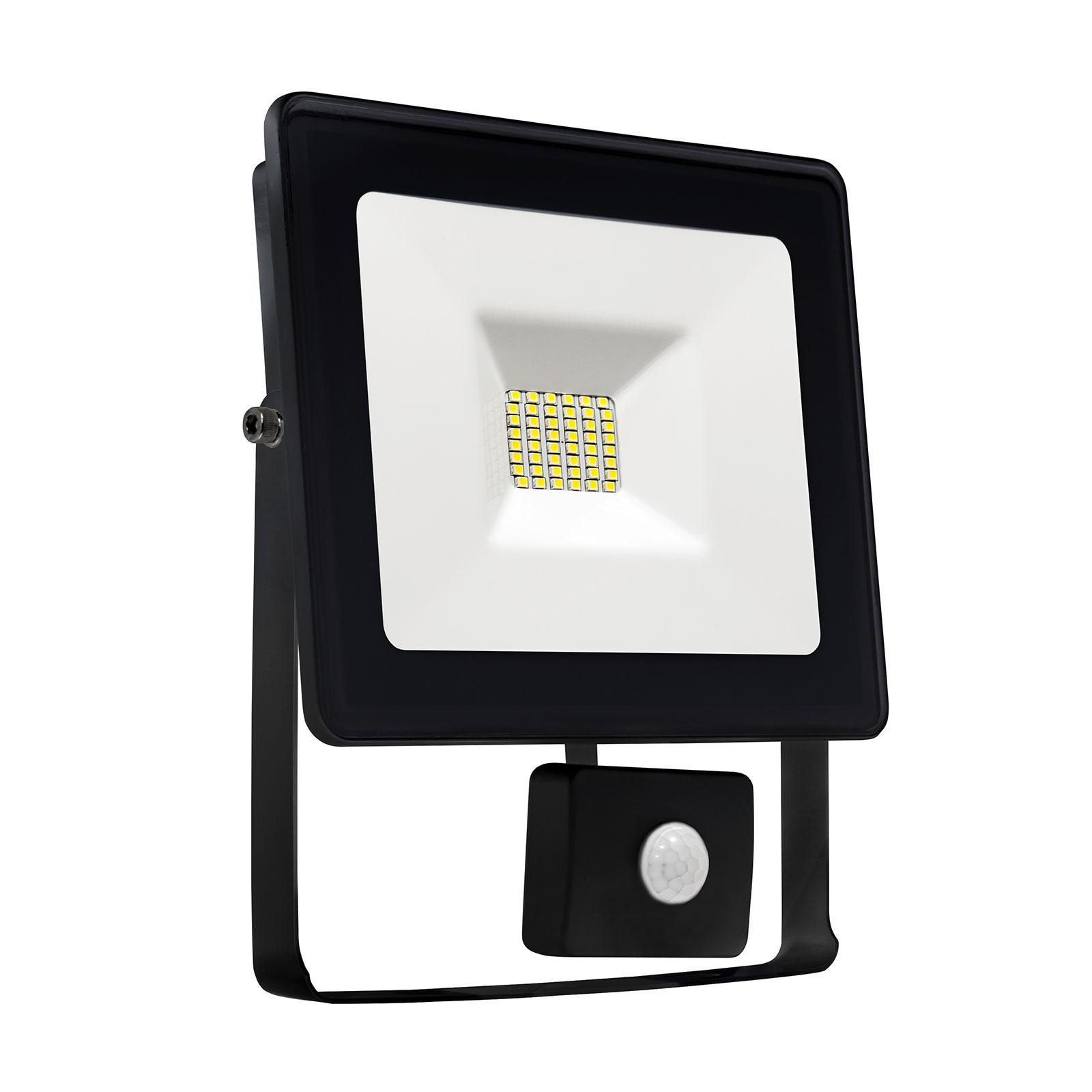 NOCTIS LUX SMD 120st 230V 10W IP44 WW WALLWASHER black with sensor