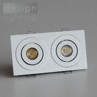 LED podhledové obdélníkové svítidlo - 2x1W